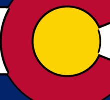 Arizona outline Colorado flag Sticker