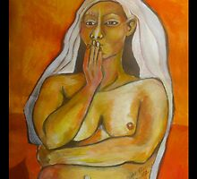 Portrait of a Native Woman by Ruth Olivar Millan by Ruth OLIVAR MILLAN