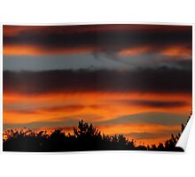 Sunset clouds #3  Poster