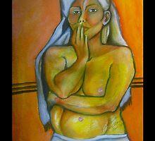 Woman in Waiting By Ruth Olivar Millan by Ruth OLIVAR MILLAN