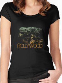 Hollywood Skyline T-shirt Design Women's Fitted Scoop T-Shirt