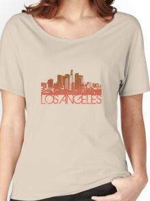 Los Angeles Skyline T-shirt Design Women's Relaxed Fit T-Shirt
