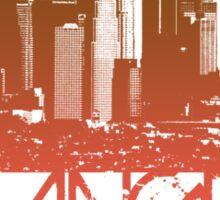 Los Angeles Skyline T-shirt Design Sticker