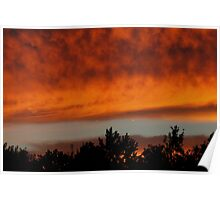 Sunset clouds #2   Poster