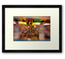 Slow shutter speed zoom burst effect at the Fair Framed Print