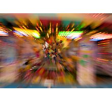 Slow shutter speed zoom burst effect at the Fair Photographic Print