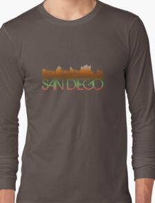 San Diego Skyline T-shirt Design Long Sleeve T-Shirt