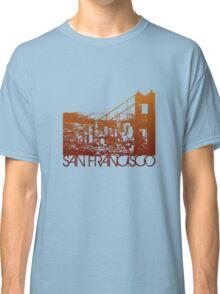 San Francisco Skyline T-shirt Design Classic T-Shirt