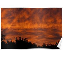 Sunset clouds #1  Poster