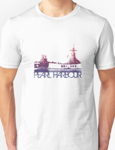 Pearl Harbour Skyline T-shirt Design Unisex T-Shirt
