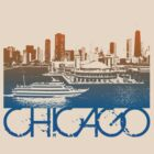 Chicago Skyline T-shirt Design by FlagSilhouettes