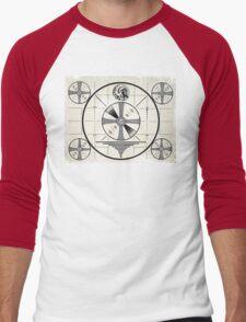 Retro TV Monoscope Test Pattern Men's Baseball ¾ T-Shirt