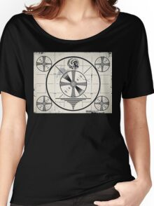 Retro TV Monoscope Test Pattern Women's Relaxed Fit T-Shirt