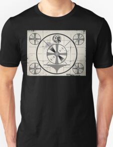 Retro TV Monoscope Test Pattern Unisex T-Shirt