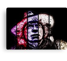 The 4th Doctor: Baker-scarfed Canvas Print
