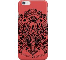 cole companion tattoo  iPhone Case/Skin