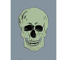 Pen and Ink Skull Photographic Print