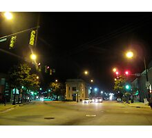 Intersection, Main, River and Augusta Photographic Print