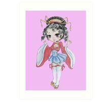Chibi Geisha  Art Print