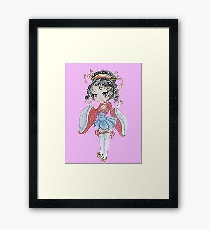 Chibi Geisha  Framed Print