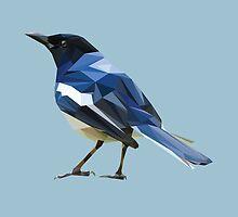 Blocky Blue Bird by Mesomex