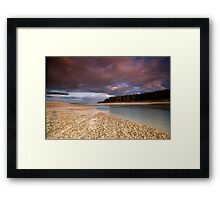 Sun set at Findhorn bay Framed Print