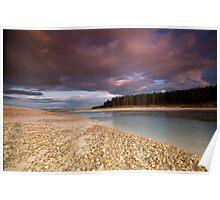 Sun set at Findhorn bay Poster