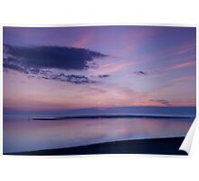 Sunset over the Moray firth Poster