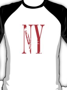 New York NY Statue of Liberty Logo Design T-Shirt