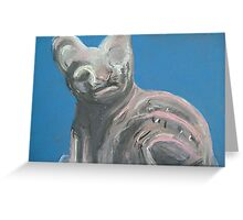 Egyptian Cat (Pastel of Ancient Egyptian Cat Statue) Greeting Card