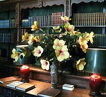 The Library - Coe Hall Planting Fields, N.Y. by Mary Tomaselli