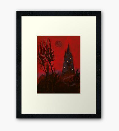 Nightmare Whispers Tower Framed Print