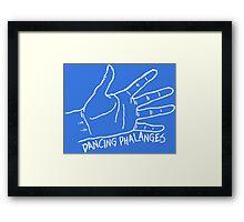 Dancing Phalanges in white Framed Print