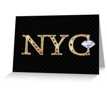 NY, New York, good luck horse shoe and all Greeting Card
