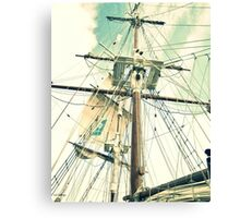 Through Her Masts and Spars Canvas Print