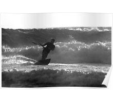 Kite surfing 8488 Poster