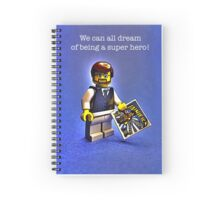 We can all dream of being a super hero! Spiral Notebook