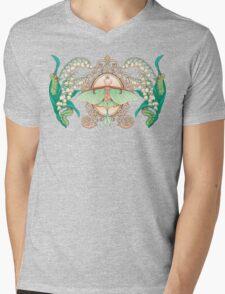Moon Moth Mens V-Neck T-Shirt