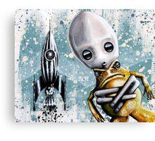 Alex lands Canvas Print