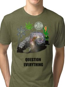Thinking Primate Questions Everything Tri-blend T-Shirt