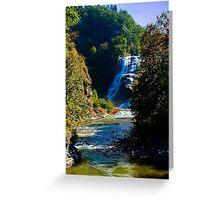 Ithaca Falls, Ithaca NY Greeting Card