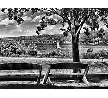 Empty Benches Photographic Print