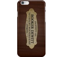 Property Of Booker Dewitt iPhone Case/Skin