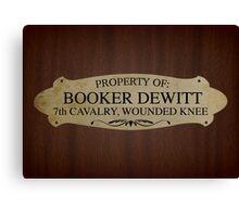Property Of Booker Dewitt Canvas Print