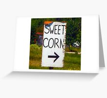Sweet Corn Greeting Card