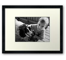 Sebastian and Doc Framed Print