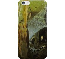 Tourists in Postogna Cave, Slovenia. iPhone Case/Skin