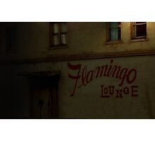 Flamingo Lounge (northside entrance) Photographic Print