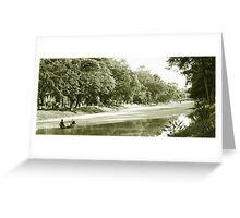 Siem Reap River Greeting Card