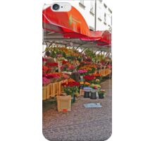 Flower Sellers, Ljubljana, Slovenia iPhone Case/Skin